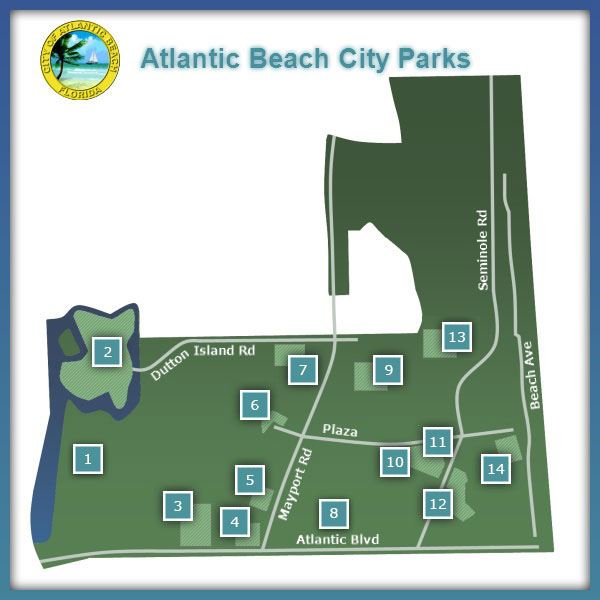 Atlantic Beach Parks Map